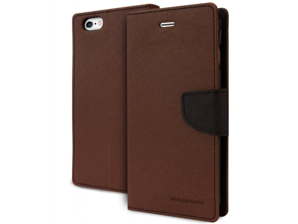 Pouzdro / kryt pro Apple iPhone 5 / 5S / SE - Mercury, Fancy Diary Brown/Black