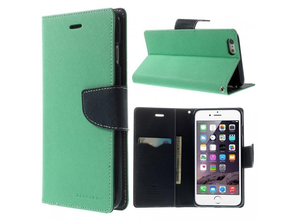 Pouzdro / kryt pro Apple iPhone 6 Plus / 6S Plus - Mercury, Fancy Diary MINT/NAVY
