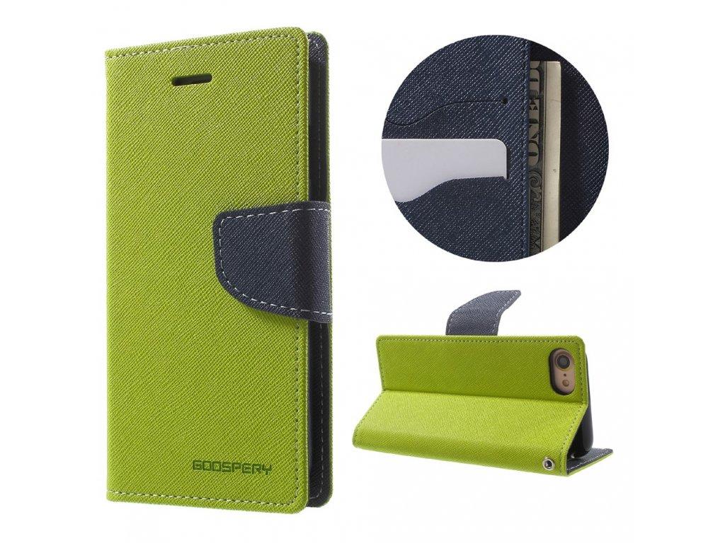 Pouzdro / kryt pro iPhone 7 / 8 / SE (2020) - Mercury, Fancy Diary LIME/NAVY