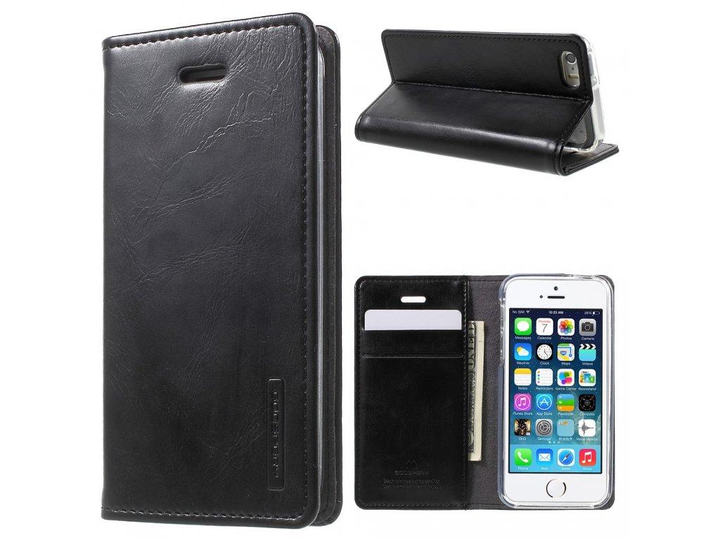 Pouzdro / kryt pro Apple iPhone 5 / 5S / SE - Mercury, Bluemoon Flip Black