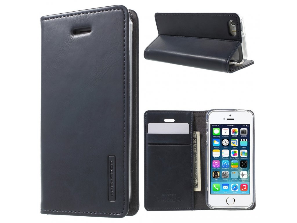 Pouzdro / kryt pro Apple iPhone 5 / 5S / SE - Mercury, Bluemoon Flip Navy