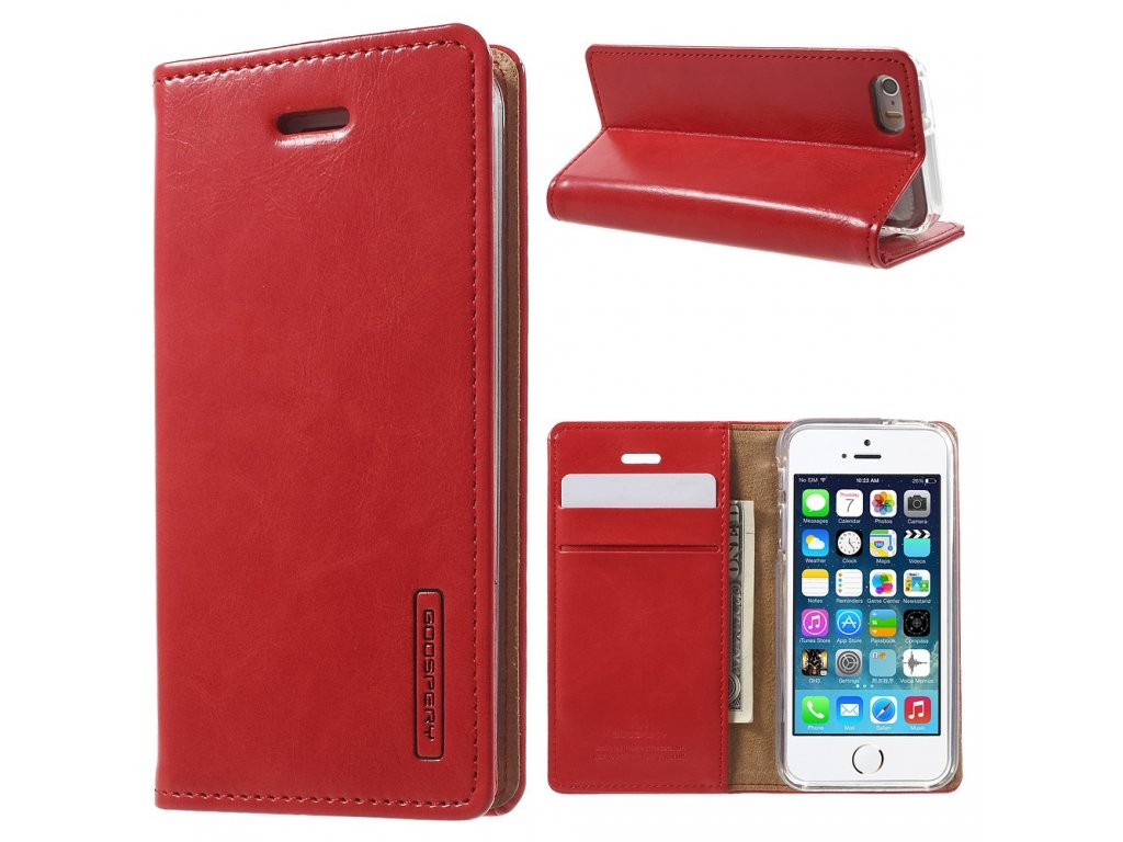 Pouzdro / kryt pro Apple iPhone 5 / 5S / SE - Mercury, Bluemoon Flip Red