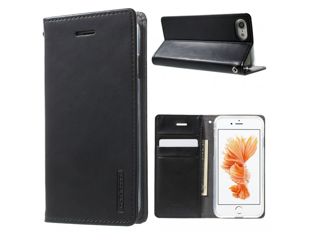 Pouzdro / kryt pro iPhone 7 / 8 / SE (2020) - Mercury, Bluemoon Flip Black