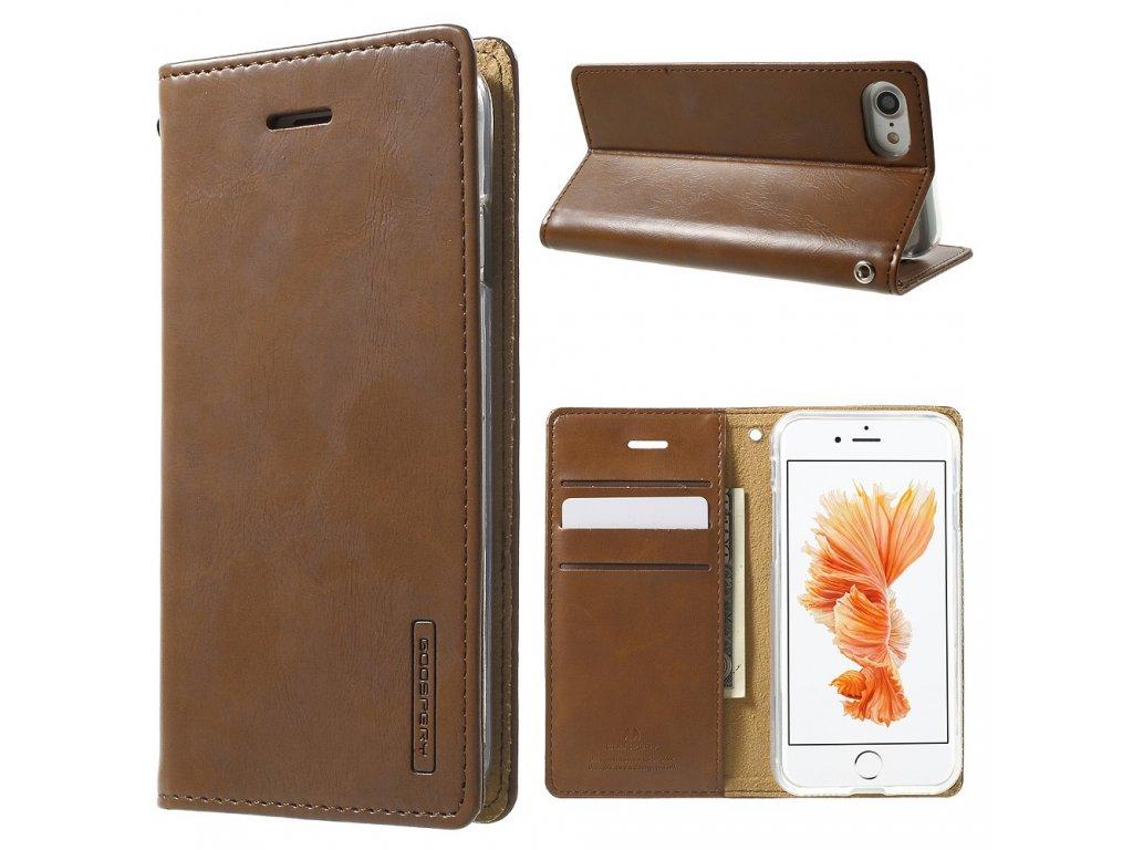 Pouzdro / kryt pro iPhone 7 / 8 - Mercury, Bluemoon Flip Brown