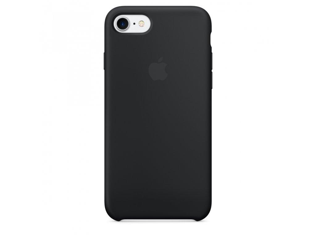 Ochranný kryt pro iPhone 7 / 8 / SE (2020) - Apple, Silicone Case Black