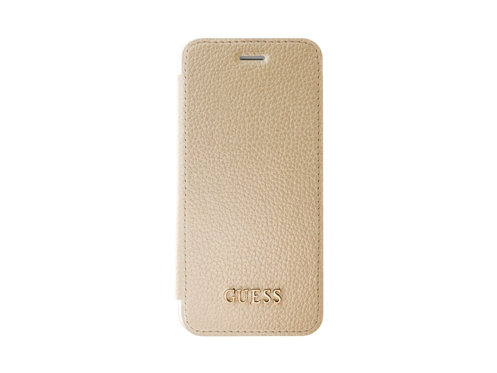 Pouzdro / kryt pro Apple iPhone 8 / 7 / 6s / 6 - Guess, IriDescent Book Gold