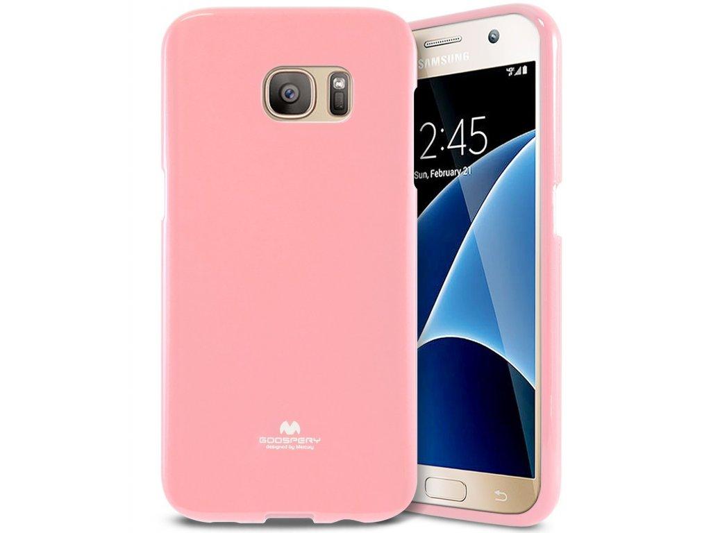 Pouzdro / kryt pro Samsung Galaxy S7 - Mercury, Jelly Pink