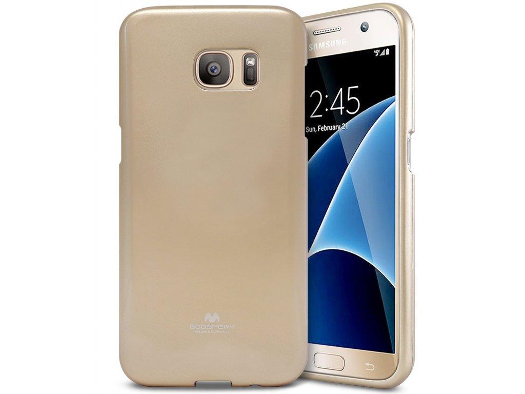 Pouzdro / kryt pro Samsung Galaxy S7 - Mercury, Jelly Gold