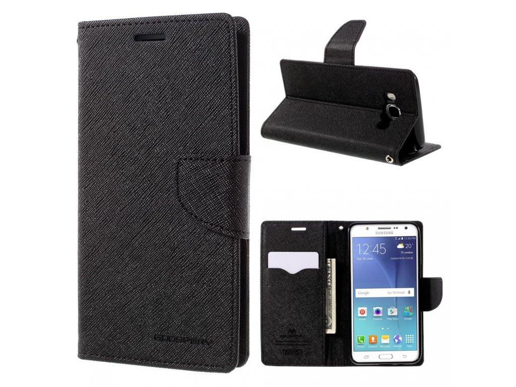 Pouzdro / kryt pro Samsung GALAXY J5 (2016) J510 - Mercury, Fancy Diary Black/Black
