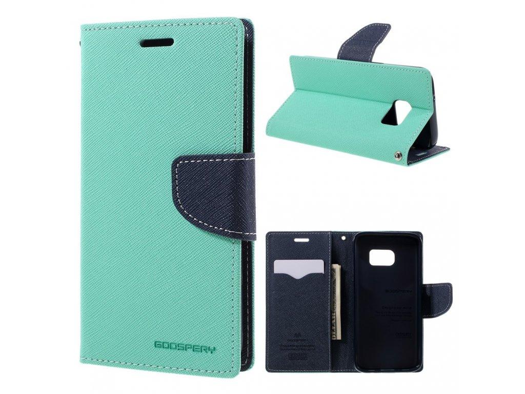 Pouzdro / kryt pro Samsung Galaxy S7 - Mercury, Fancy Diary Mint/Navy