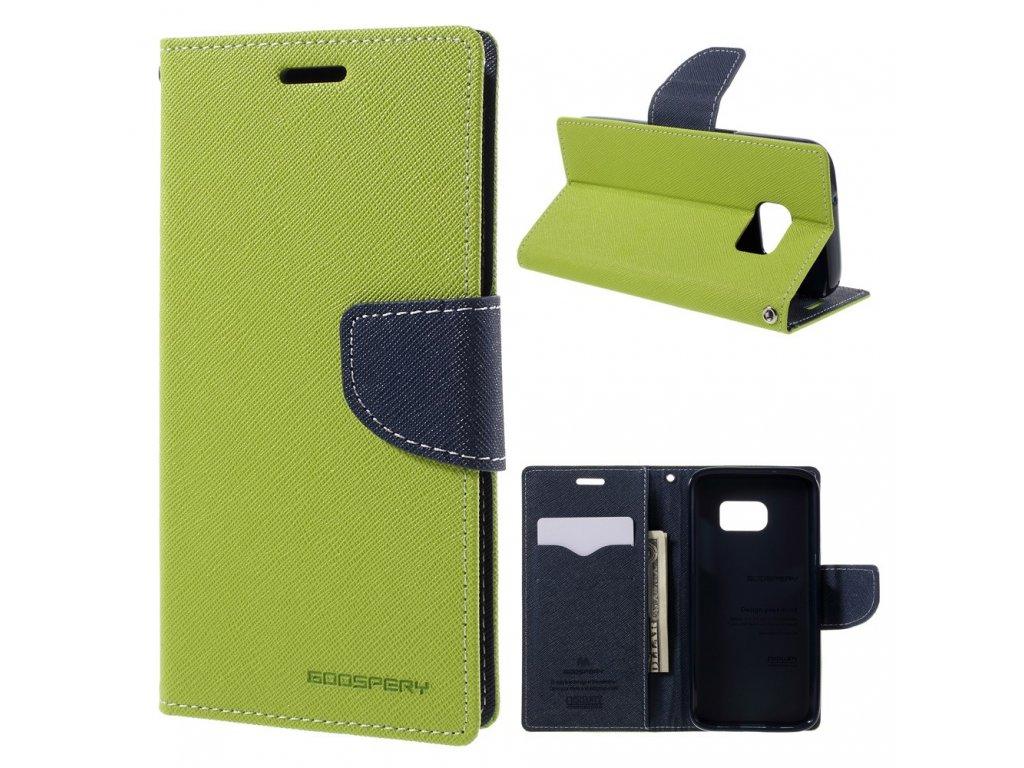 Pouzdro / kryt pro Samsung Galaxy S7 - Mercury, Fancy Diary Lime/Navy