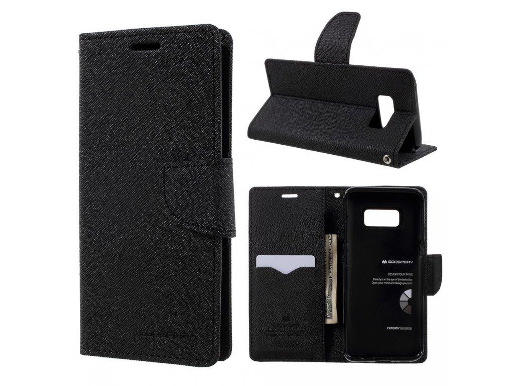 Pouzdro / kryt pro Samsung Galaxy S8 - Mercury, Fancy Diary Black/Black