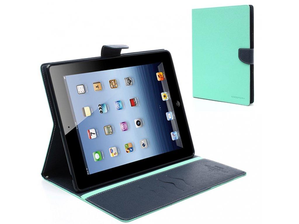 Pouzdro / kryt pro Apple iPad 2 / 3 / 4 - Mercury, Fancy Diary Mint/Navy