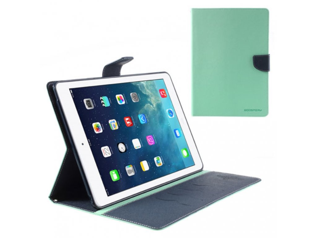 Pouzdro / kryt pro Apple iPad Air 1 - Mercury, Fancy Diary Mint/Navy