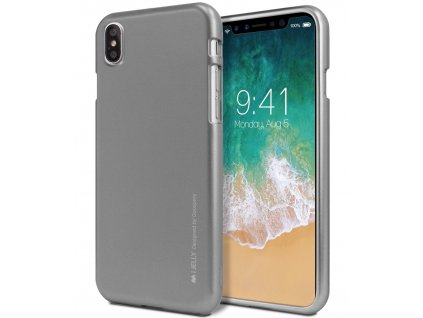 Ochranný kryt pro iPhone XS / X - Mercury, i-Jelly Gray