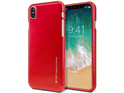Ochranný kryt pro iPhone XS / X - Mercury, i-Jelly Red