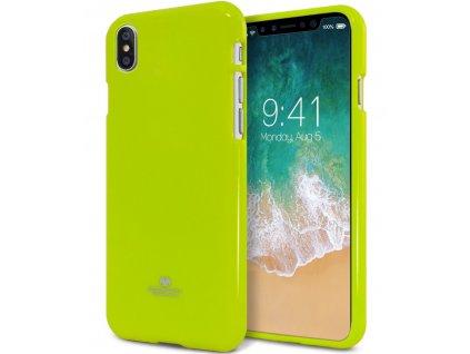 Ochranný kryt pro iPhone XS / X - Mercury, Jelly Case Lime