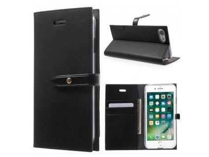 Pouzdro / kryt pro iPhone 7 / 8 / SE (2020) - Mercury, Romance Diary BLACK/BLACK