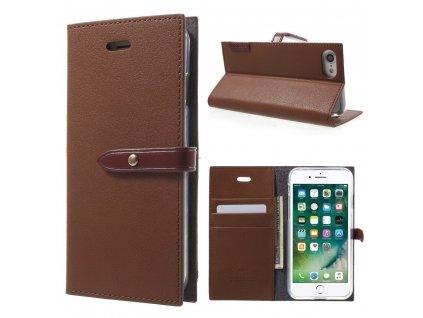 Pouzdro / kryt pro iPhone 7 / 8 / SE (2020) - Mercury, Romance Diary BROWN/WINE