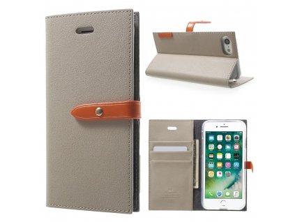 Pouzdro / kryt pro iPhone 7 / 8 / SE (2020) - Mercury, Romance Diary GREY/ORANGE