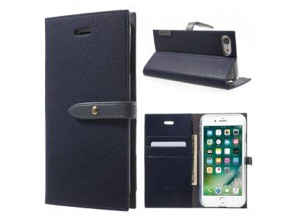 Pouzdro / kryt pro iPhone 7 / 8 / SE (2020) - Mercury, Romance Diary NAVY/GREY