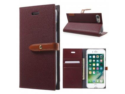 Pouzdro / kryt pro iPhone 7 / 8 / SE (2020) - Mercury, Romance Diary WINE/BROWN