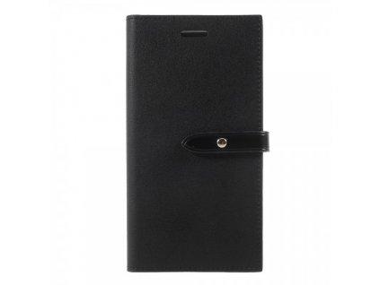 Pouzdro / kryt pro iPhone XS / X - Mercury, Romance Diary BLACK/BLACK