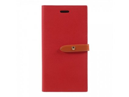 Pouzdro / kryt pro iPhone XS / X - Mercury, Romance Diary RED/ORANGE