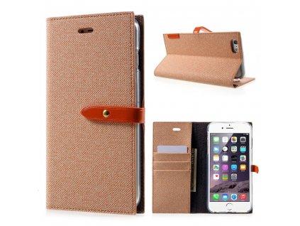 Pouzdro / kryt pro iPhone 6 / 6S - Mercury, Milano Diary ORANGE/ORANGE