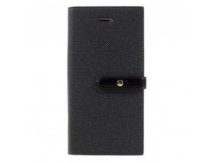 Pouzdro / kryt pro iPhone 7 / 8 - Mercury, Milano Diary BLACK/BLACK