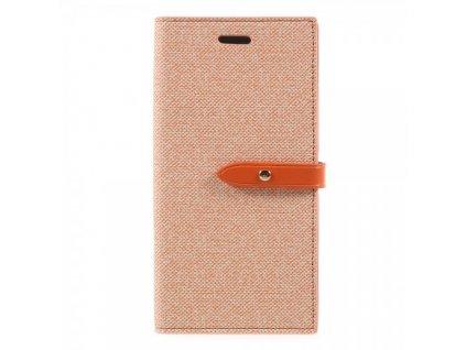 Pouzdro / kryt pro iPhone XS / X - Mercury, Milano Diary ORANGE/ORANGE