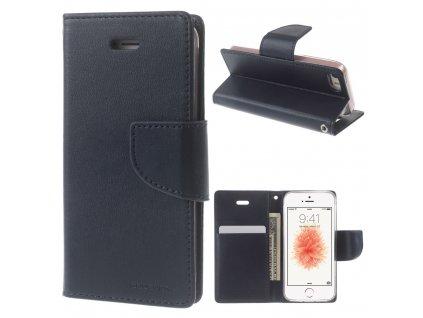 Pouzdro / kryt pro iPhone 5 / 5S / SE - Mercury, Bravo Diary NAVY