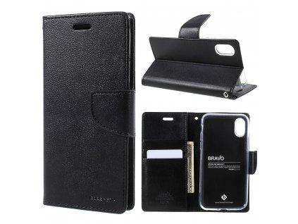 Pouzdro / kryt pro iPhone XS / X - Mercury, Bravo Diary BLACK