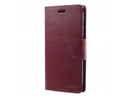Pouzdro / kryt pro iPhone XS / X - Mercury, Bravo Diary WINE