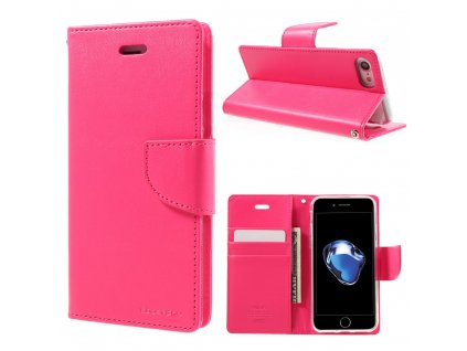 Pouzdro / kryt pro iPhone 7 / 8 / SE (2020) - Mercury, Bravo Diary HOTPINK