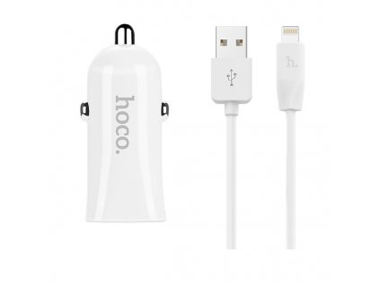 Auto-nabíječka pro iPhone a iPad - Hoco, Z12 Dual 2.4A + kabel Lightning