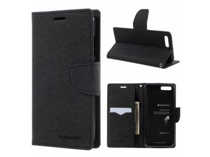 Pouzdro / kryt pro Xiaomi Mi6 - Mercury, Fancy Diary BLACK/BLACK