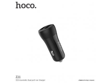 Auto-nabíječka pro iPhone a iPad - Hoco, Z21 Ascender 3.4A Black