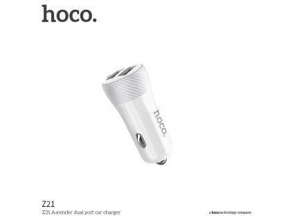 Auto-nabíječka pro iPhone a iPad - HOCO, Z21 Ascender 3.4A White