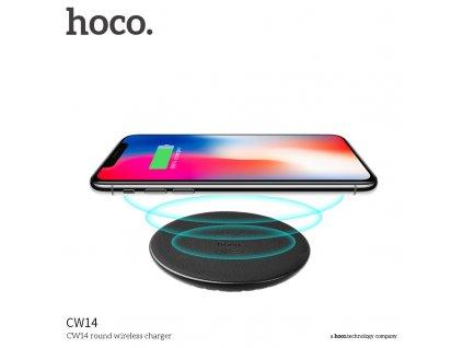 Bezdrátová nabíječka pro iPhone - HOCO, CW14 Round Black