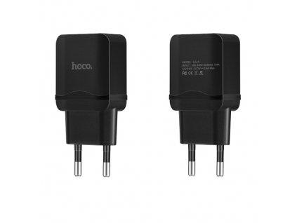 Nabíjecí AC adaptér pro iPhone a iPad - Hoco, C22A 2.4A Black