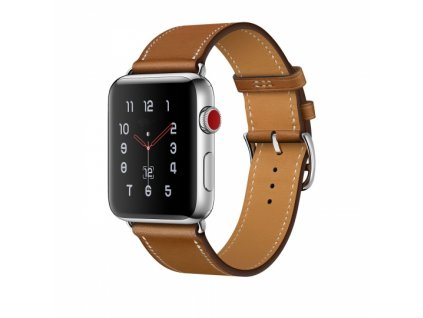 Kožený pásek / řemínek pro Apple Watch 42mm / 44mm - Tech-Protect, Herms Brown