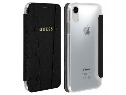 Pouzdro / kryt pro iPhone XR - Guess, Kaia Book Black