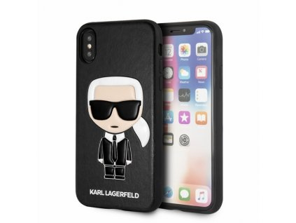 Ochranný kryt pro iPhone XS / X - Karl Lagerfeld, Ikonik Black Back