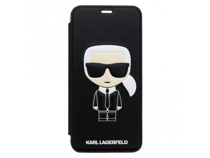 Ochranný kryt / pouzdro pro iPhone XS MAX - Karl Lagerfeld, Ikonik Book Black