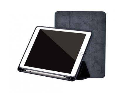 Pouzdro / kryt pro iPad 2017 / 2018 - Comma, Leather Case Black (Pencil Slot)
