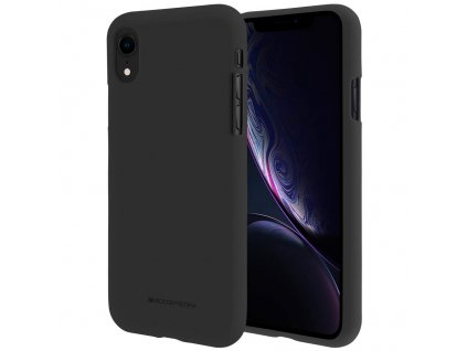 Ochranný kryt pro iPhone XR - Mercury, Soft Feeling Black