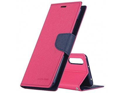 Pouzdro / kryt pro Huawei P20 - Mercury, Fancy Diary HotPink/Navy