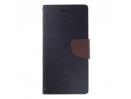 Pouzdro / kryt pro iPhone XR - Mercury, Fancy Diary Black/Brown