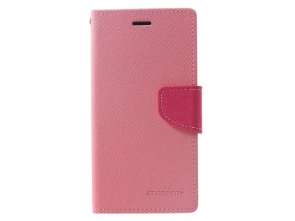 Pouzdro / kryt pro iPhone XR - Mercury, Fancy Diary Pink/HotPink